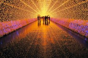 Uno spettacolo di luci 'scalda' l'inverno in Giappone…