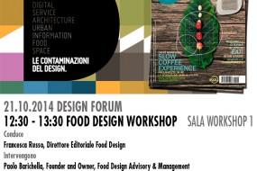 Food Design Workshop @ FORUM DEL DESIGN