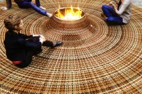 Un focolare nel tappeto per incontri domestici…