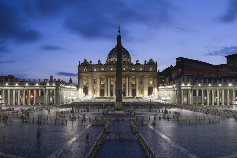Luce LED unica by Osram per Piazza San Pietro