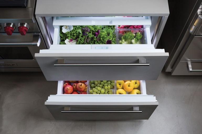 frigorifero e frigo freezer a cassetti sottopiano design