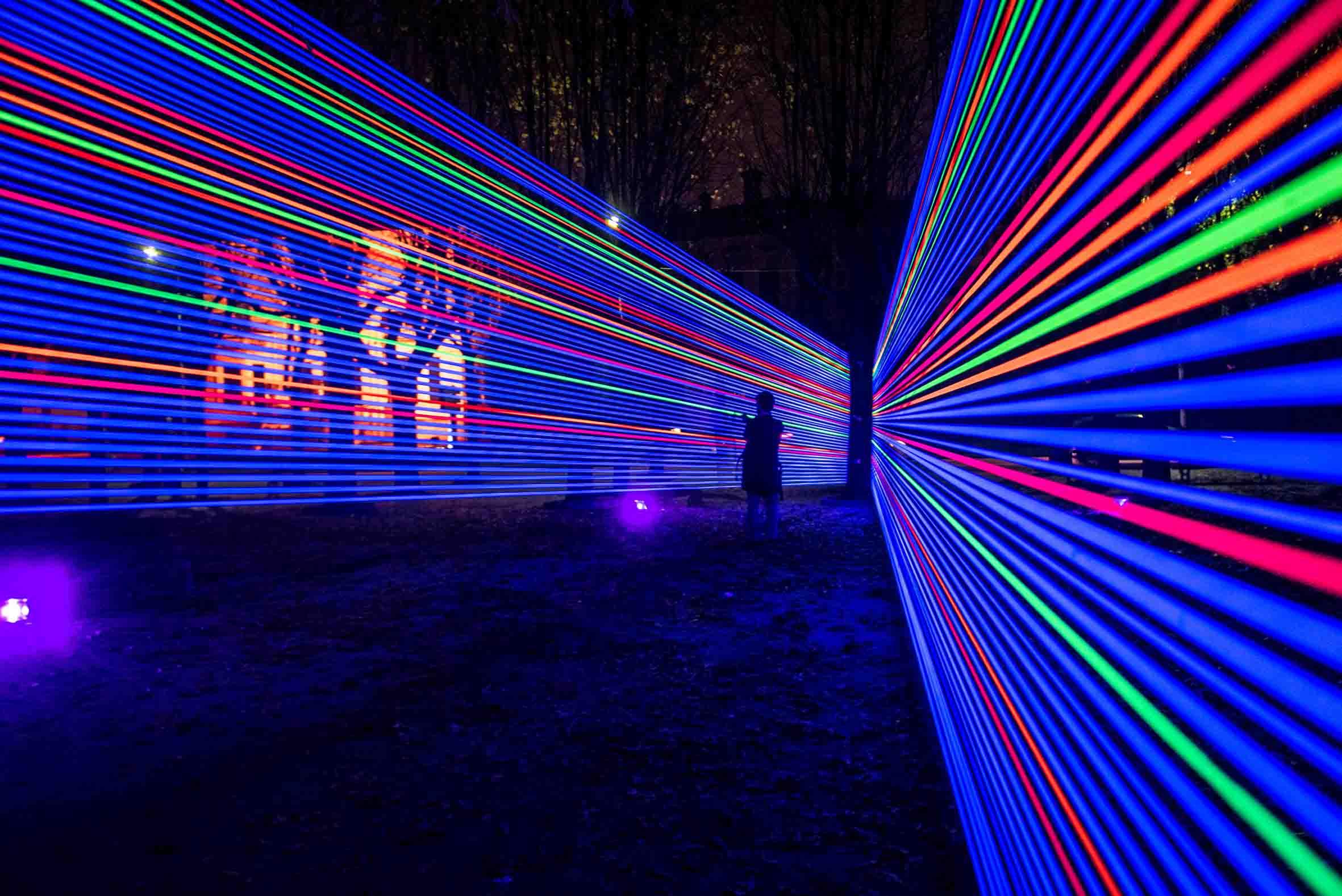 Como Giardini A Lago Installazione Di 8208 Light Design Festival