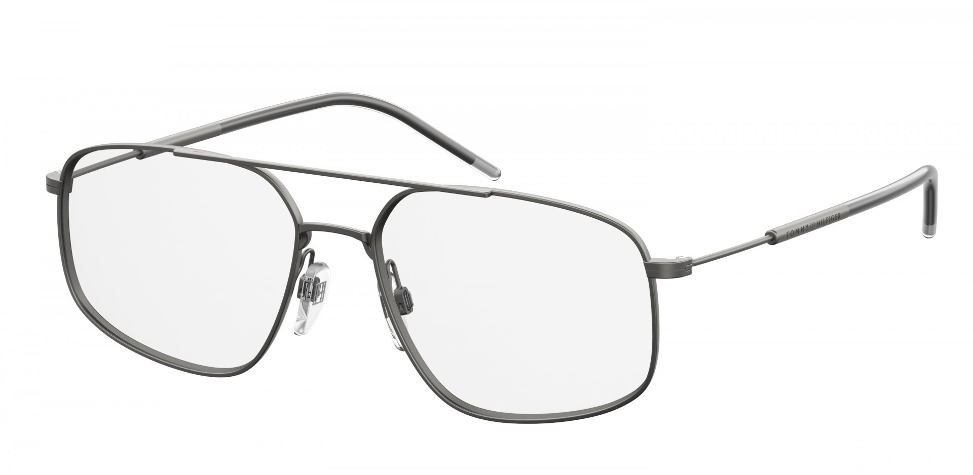 9ba1d650 The unisex TH 1632 glasses frame, with slightly rounded structure, in  metal, with single nosepiece and slim arms featuring an engraving of the  iconic TH ...