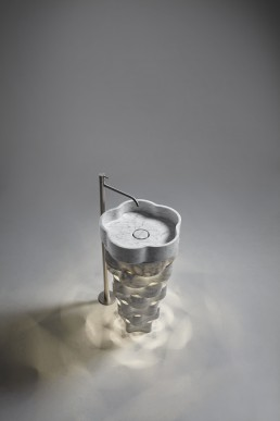 Intreccio, ultra-light marble washbasin by Paolo Ulian for Antoniolupi